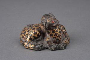 西汉 · 错金铜豹(河北博物院)