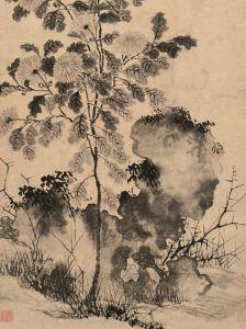 明代 ·  东篱归影图轴(天津博物馆)