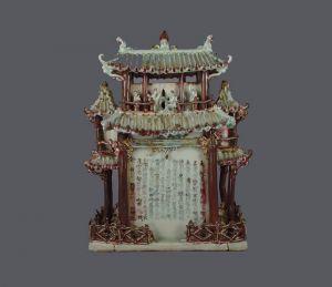 元代  · 凌氏釉里红楼阁式谷仓(江西省博物馆)